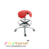 TF04-7  Red seat saddle chair