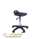 TF01-2 Black cleanroom stool