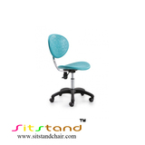 TFF02-2  light blue color ergonomic task stool