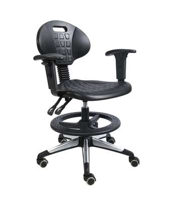 ESD cleanroom chair with PU armrest backrest adjustable